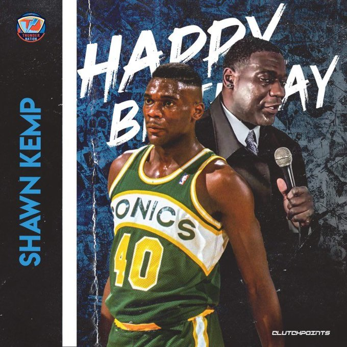 Join Thunder Nation in wishing former 6x All-Star, Shawn Kemp, a happy 50th birthday!