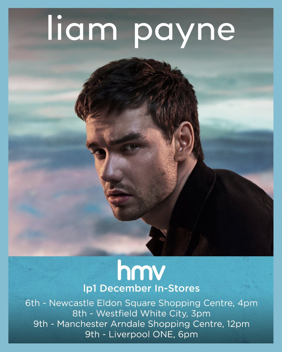 For everyone who couldn't make my London show, Ill be doing UK in-stores on album release week 🙌🏼 click here for more info liam-payne.lnk.to/HMVSignings