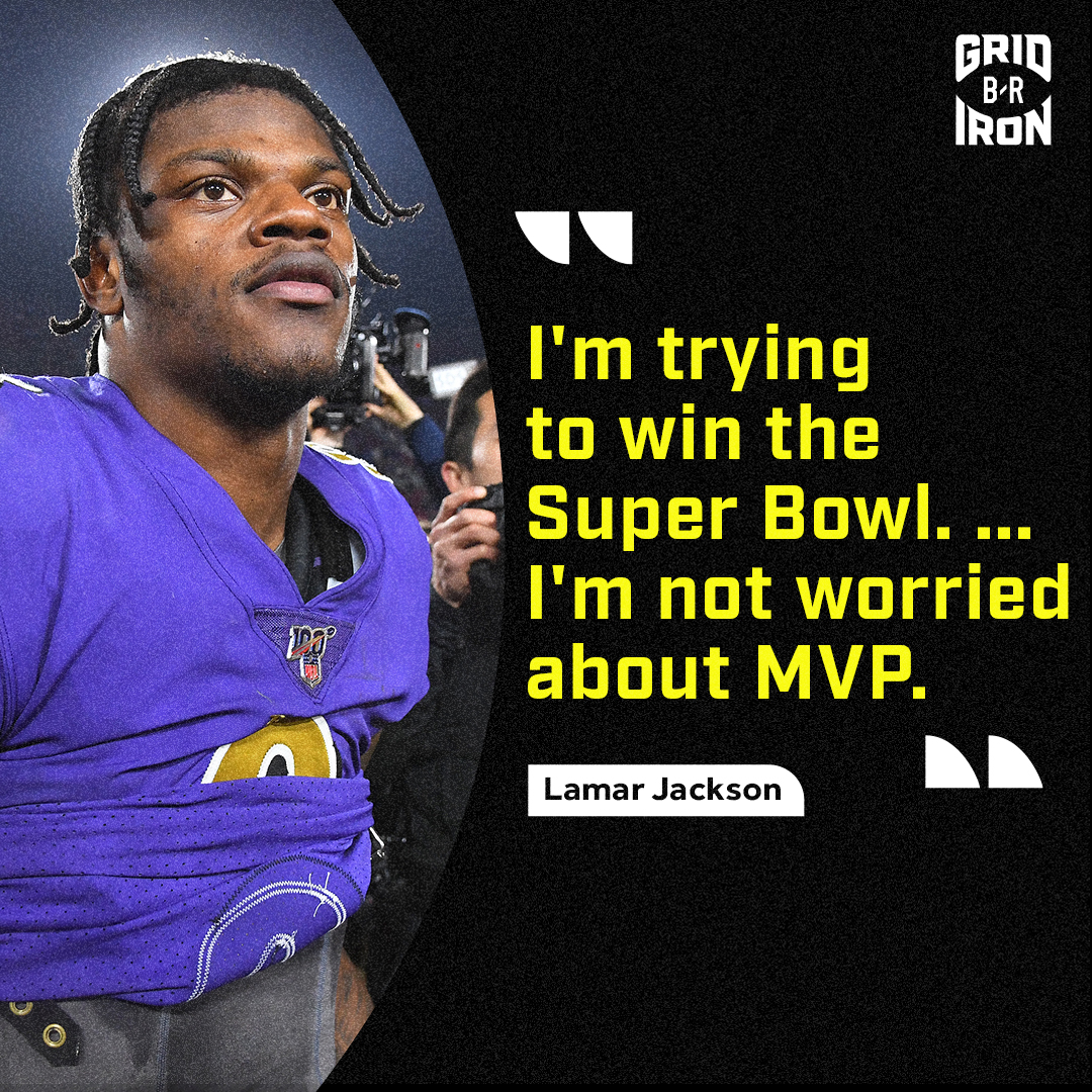 Lamar promised Baltimore a Super Bowl on draft night. Still the only trophy that matters to him 🏆