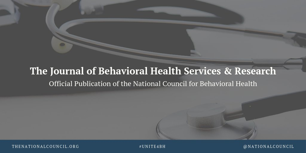 Did you know that as a member, you have access to a quarterly publication offering the latest research and news on all-things #behavioralhealth care? Check out The Journal of Behavioral Health Services & Research: buff.ly/2KFgGg9 #TuesdayThoughts