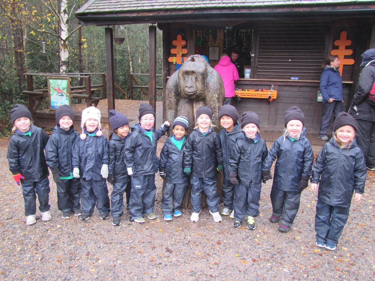 Reception challenged themselves @GoApeTribe today. Despite the weather, each and every child stepped out of their comfort zones to complete two tree top courses finishing with a zip wire ride. Well done Reception! #GoApe #reception