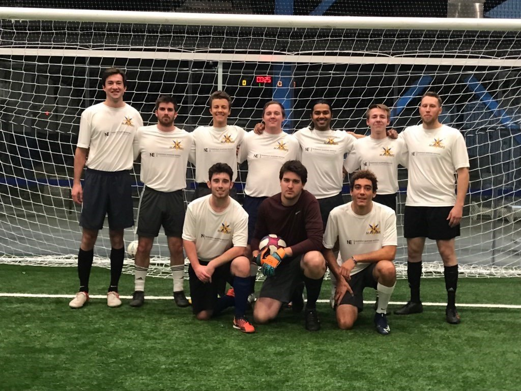 The Northeast Maritime Institute Mariners showed off their skills last night at the Longplex Sports Center in Tiverton, RI!The soccer team is one of the newest student activities to come to #NMI. Let's go Mariners! #honorthemariner #soccerleague #soccer #maritime #mariners