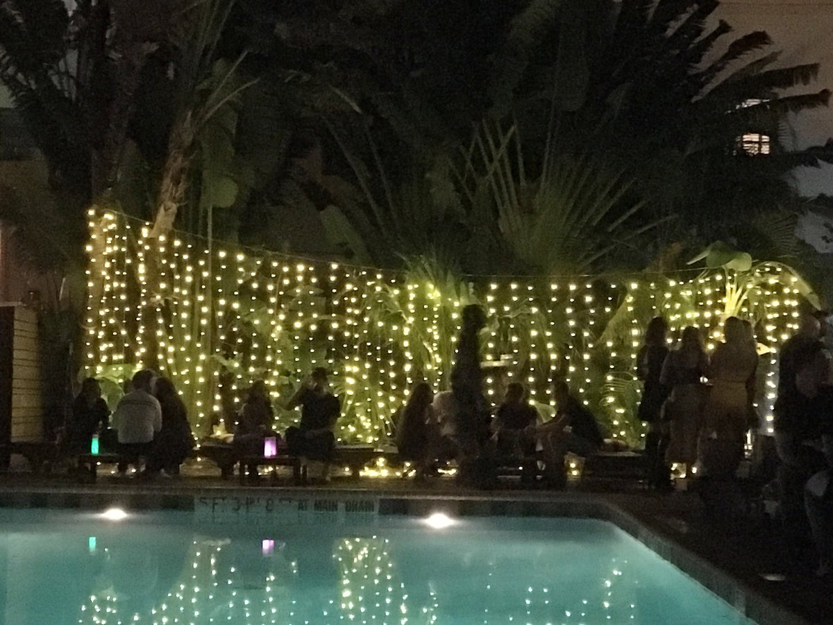 """""""In his blue gardens men and girls came and went like moths among the whisperings and the champagne and the stars."""" #miami #mia #miamibeach #southbeach #sobe #florida #fla #brokenshaker #freehand #poolbar #hotelbar #pool #tropical #travel"""