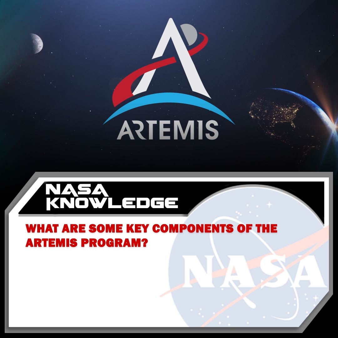 NASA's working to return astronauts to the Moon by 2024 through the elements of the new #Artemis program. 👩‍🚀👨‍🚀 Do you know the names of some of the key components of this exciting new program? 🌙 #TuesdayTrivia