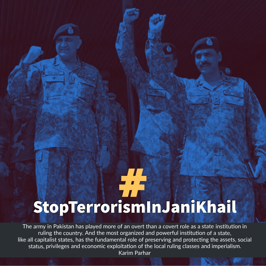 There is no terrorist Talibans but ISI and Punjab regiment. Army without uniform Taliban and Pak army, both are working to gather and they are killing the armlress people. Down with Punjab regiment. Down with good&bad Taliban. #StopTerrorismInJaniKhail <br>http://pic.twitter.com/Xr4LAj7k4f