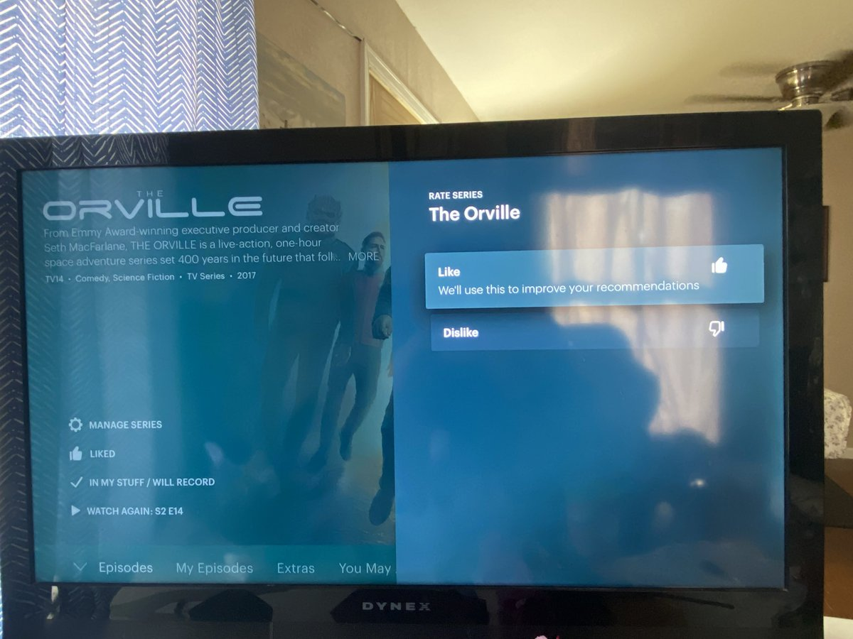 Everyone, don't forget to choose Like with @hulu's new feature!! @SethMacFarlane @TheOrville https://t.co/HFESIahWK8