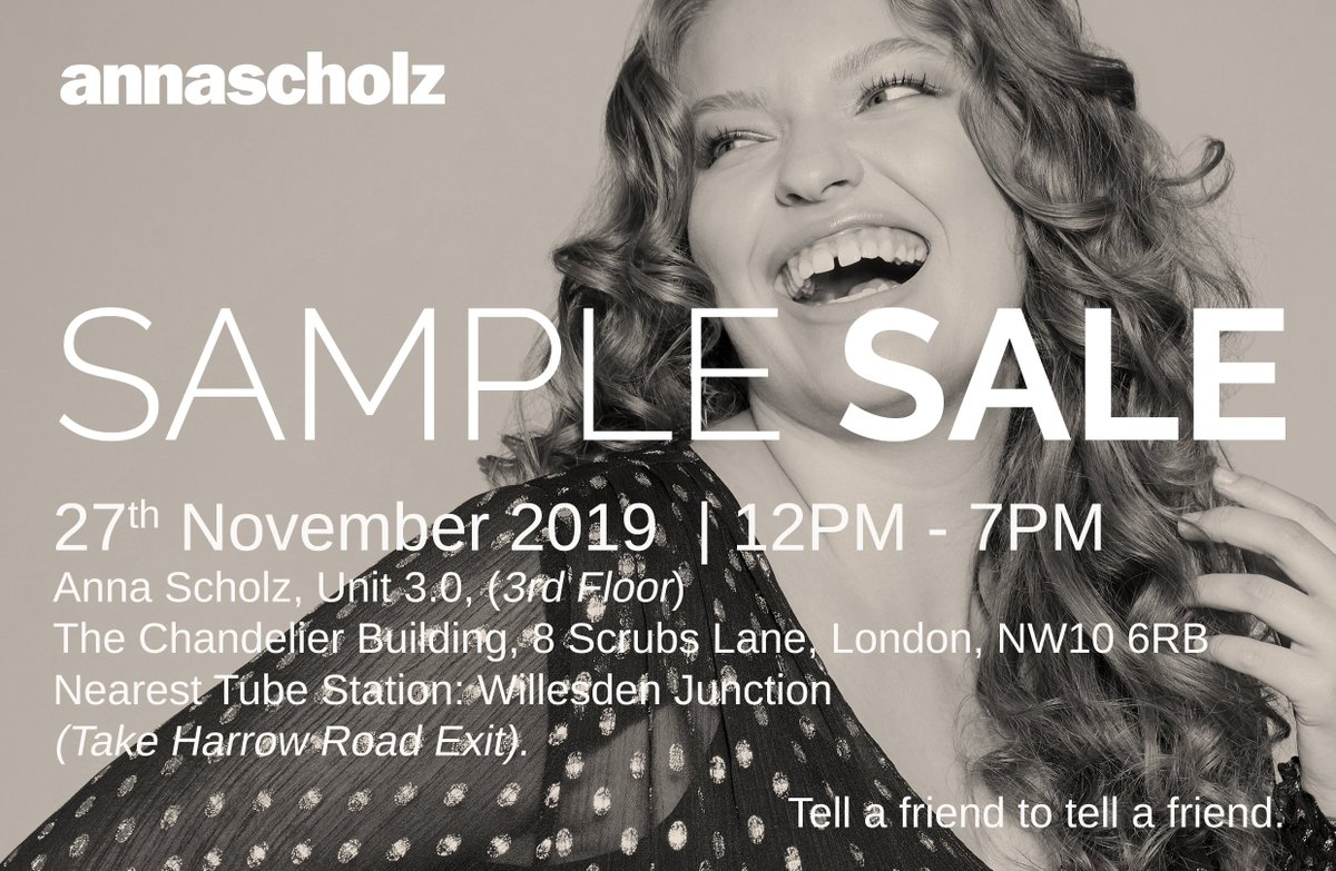 test Twitter Media - Our annascholz plussize fashion #samplesale is tomorrow! @londonsamples @LondonSale @aSampleapp https://t.co/RSmCL9sS0x