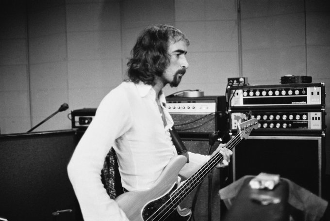 Happy Birthday to John McVie  Photo by Fin Costello, 1975.