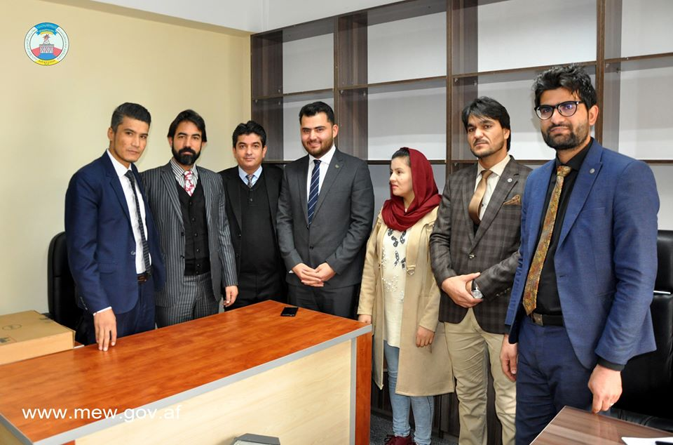 Ahmad Seiyar Nickzad and Muzhda Behnood are appointed as spokesman and deputy spokesperson of the Ministry of Energy and Water and introduced by Honorable Mir Abdul Hamid Zaka Acting Chief of Staff Click the link for more info https://www.facebook.com/MEW.AF/posts/2522198171230881…