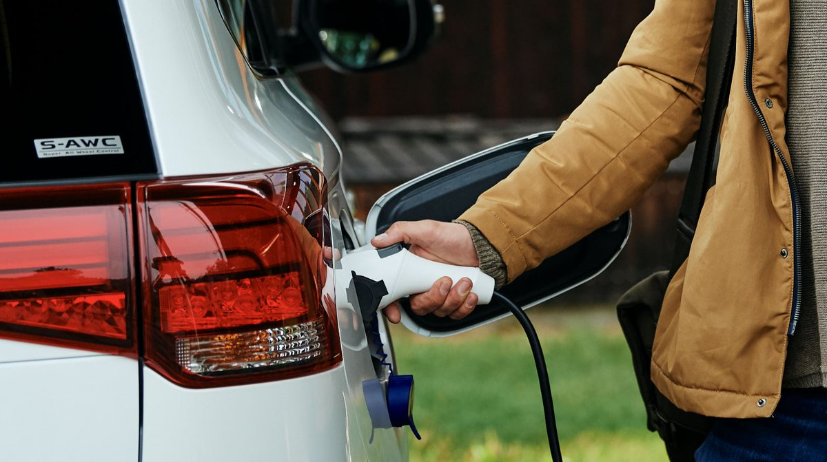 The #OutlanderPHEV becomes as easy as plugging in your phone.  Explore charging at: