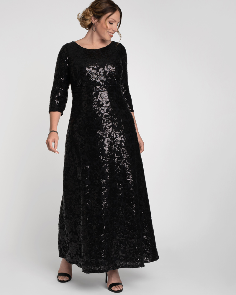 #Fashionnews Gowns for the #Holidays Kiyonna Womens Plus Size Socialite Sequin Gown see #KiyonnaClothing Designed with an abundance of sequins, this radiant gown features a classic boat neckline http://shrsl.com/1z5r0 #ad #plussize https://www.planetgoldilocks.com/Blog/plus-size-clothing.htm #gowns #Christmas