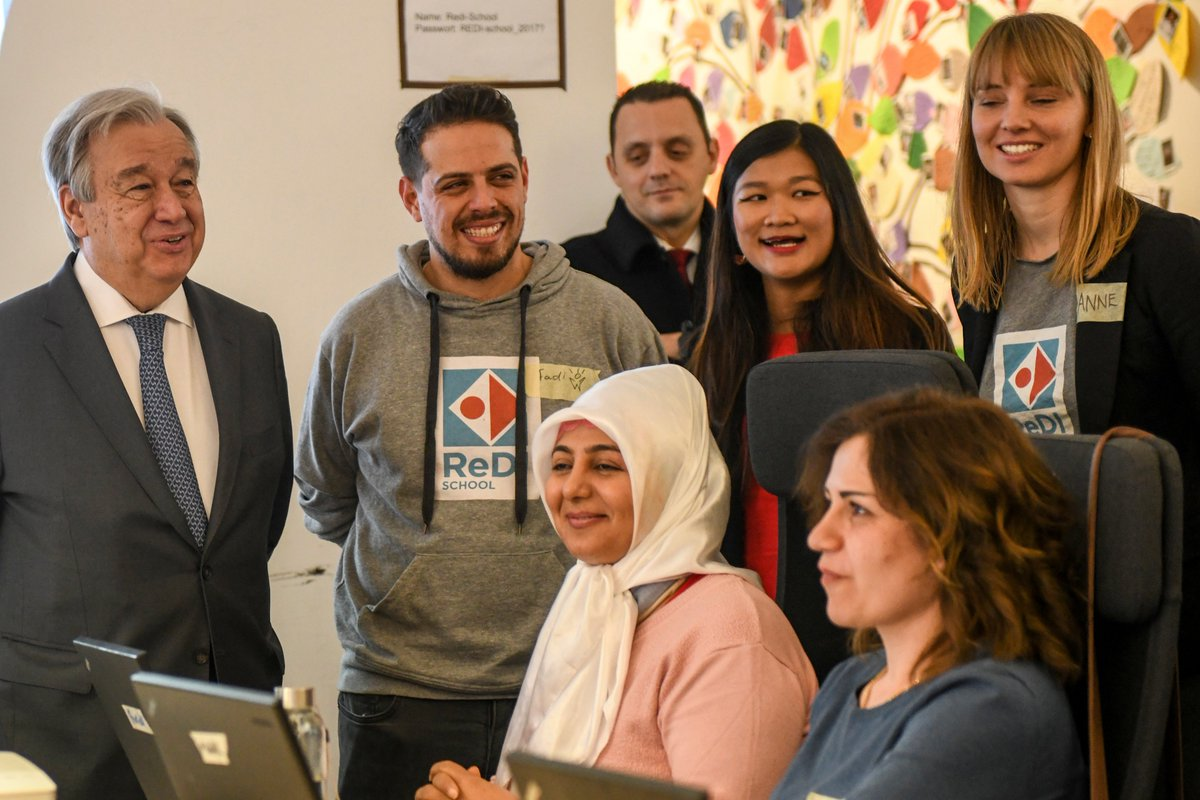 To truly bridge the digital divide, all sectors of society must be included.I was very impressed by the @RediSchool in Berlin, where refugees and asylum seekers receive coding and tech classes, helping them integrate and have access to good jobs.