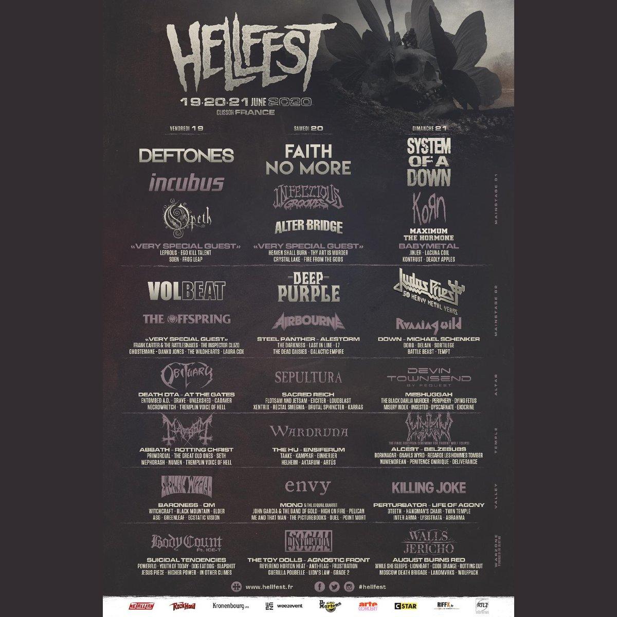 Bildergebnis für hellfest 2020 line up