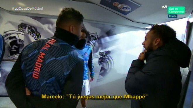 Découvrez la petite phrase de Marcelo à Neymar juste avant le match Réal-PSG