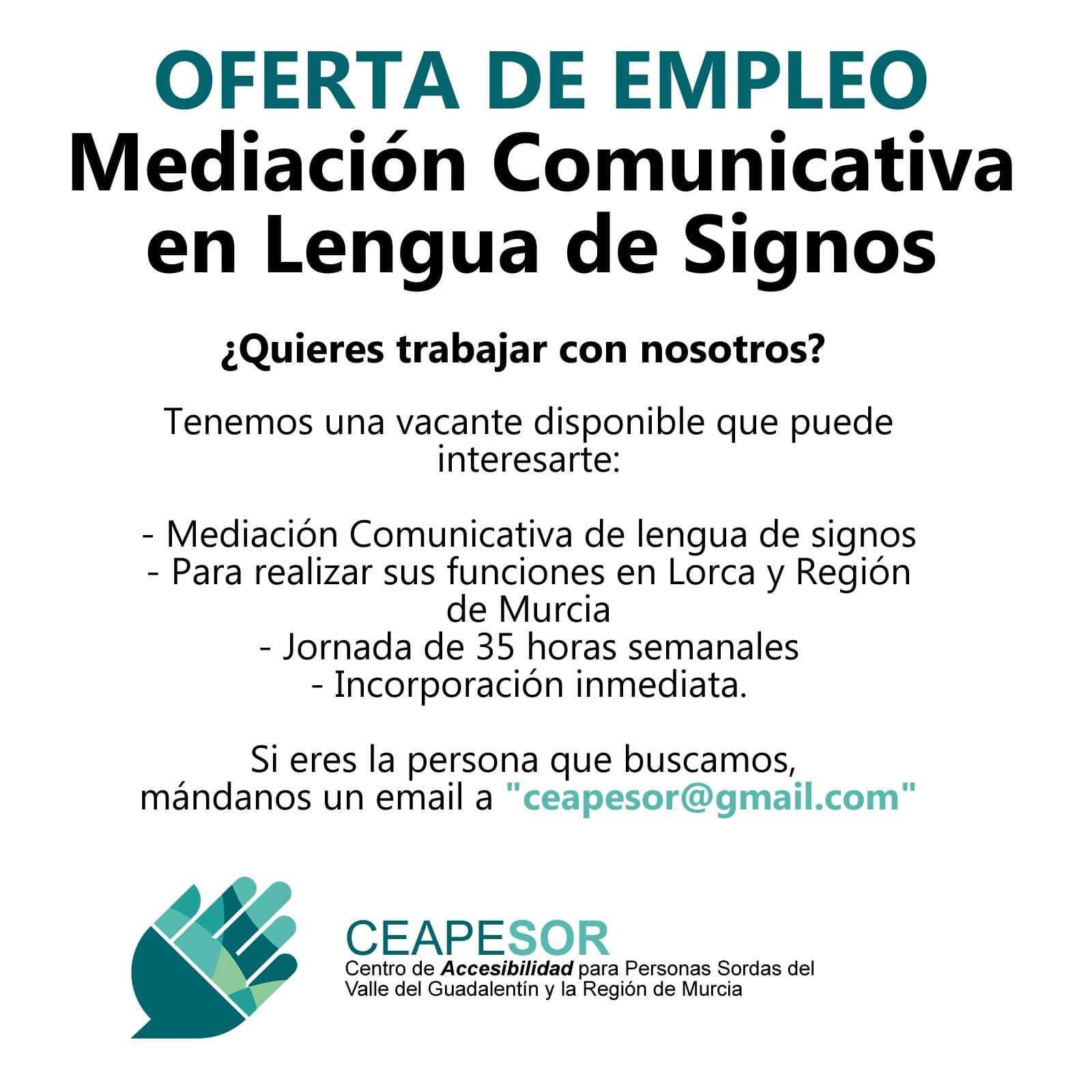 CEAPESOR busca MEDIADOR COMUNICATIVO - Lorca y Murcia EKVNdrRX0AAS2Oj?format=jpg&name=large