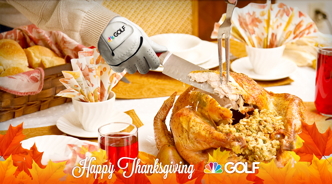 *Announcer whispers* I think hes going to go for a big slice right here. #HappyThanksgiving