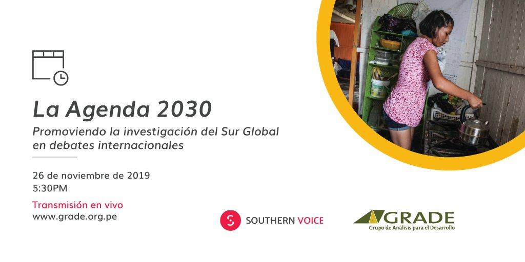 ⏳En breve...  El presidente del @ceplan2050, Javier Abugattás, participará en el panel de invitados del seminario: La Agenda 2030: Promoviendo la investigación del Sur Global en debates internacionales, organizado por @GRADEPeru