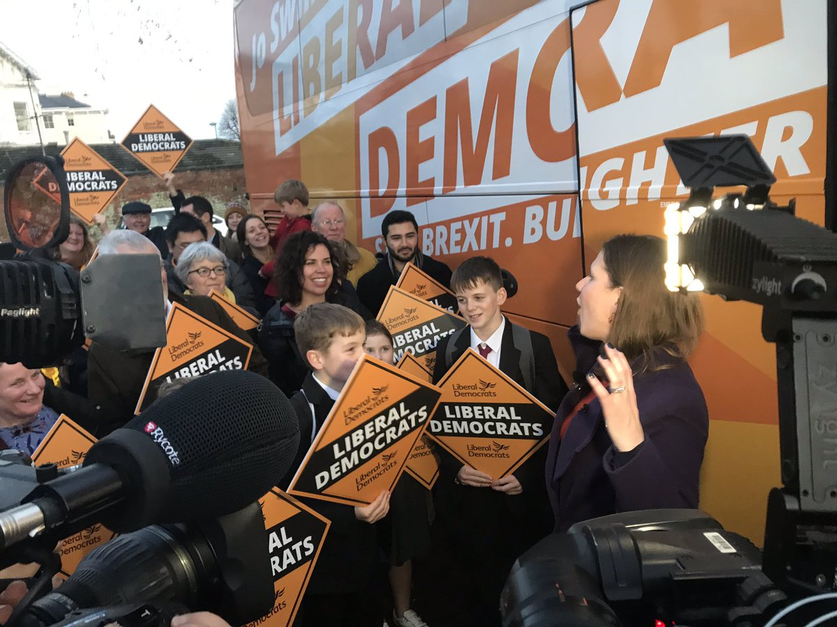 After one of the biggest crowds we've seen yet for Swinson in Cheltenham, she'll seek to move the discussion on from how she's doing in her job by pushing a plan to help workers in the gig economy. Lib Dems want to up the min wage by 20% for zero-hour contract employees #ge2019