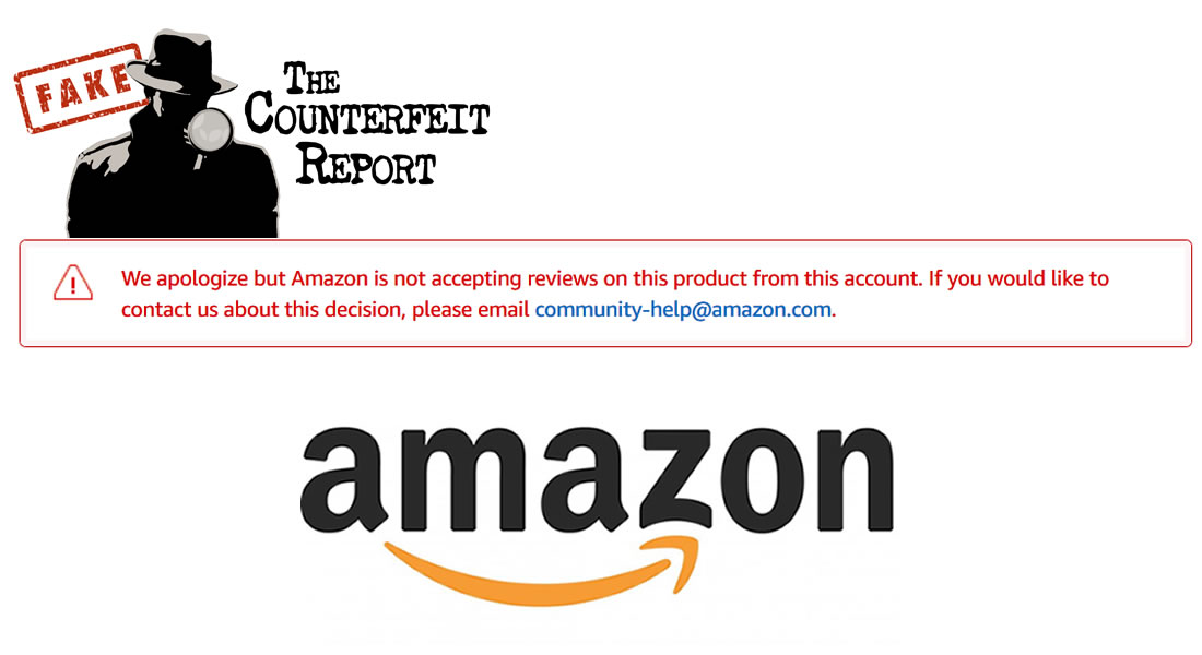 Counterfeit Report On Twitter The Counterfeit Report Identified 190 000 Counterfeit Fraudulent And Replica Amazon Products Amazon Responded By Blocking Feedback And Consumer Warnings Is Amazon America S Biggest Consumer Fraud Https T Co