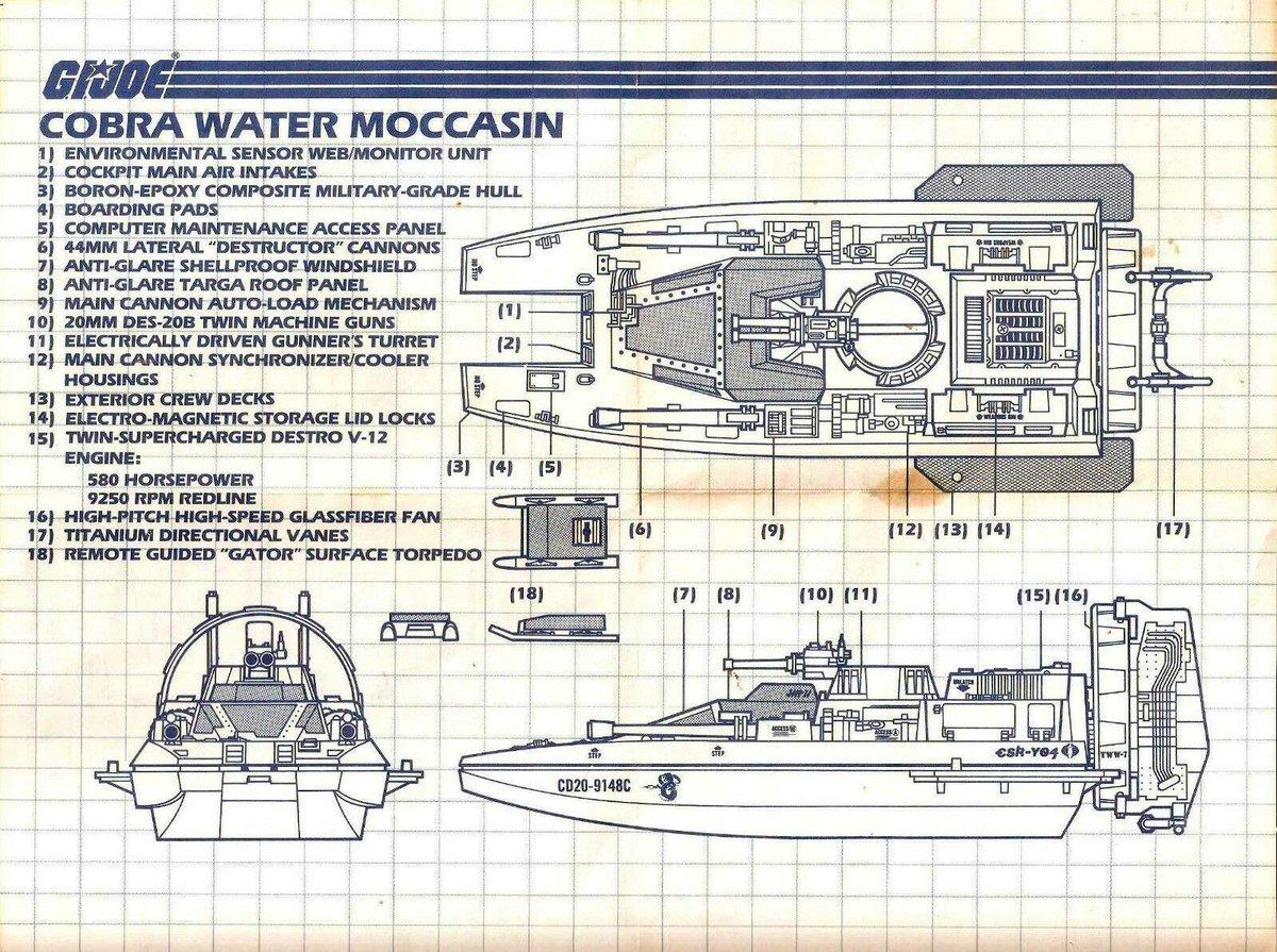 G I JOE PART      1984 Cobra Water Moccasin         Windshield