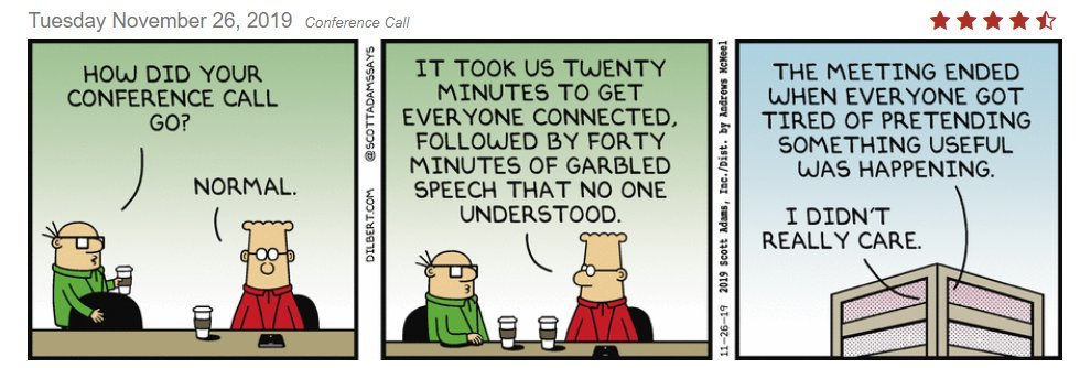 "Rasu Shrestha MD MBA on Twitter: ""Dilbert called it. THIS was my day today.  Seriously. [This is today's comic strip, by the way!] #hcldr… """