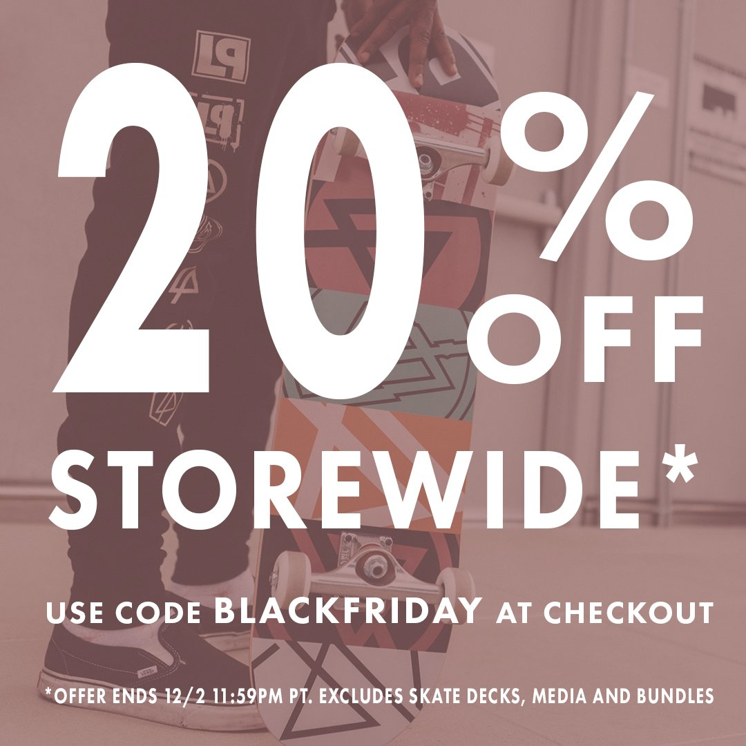 Black Friday is starting early. From now until 12/2, take 20% off storewide using the code BLACKFRIDAY