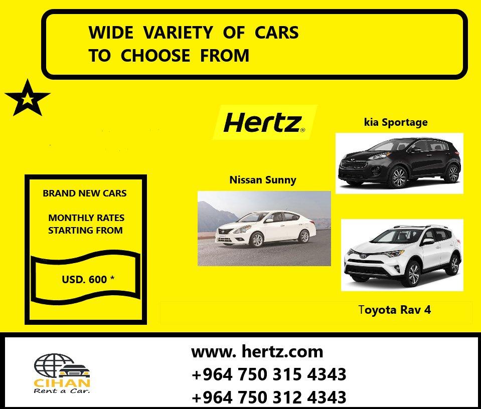 Hertz Monthly Rental >> Hertz Iraq Hertziraq Twitter