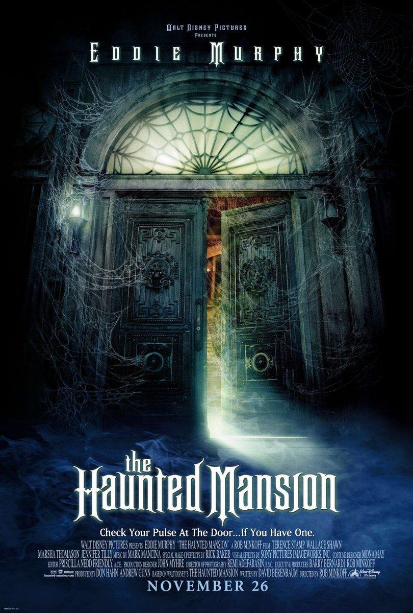 MOVIE HISTORY: 16 years ago today, November 26, 2003, the movie 'The Haunted Mansion' opened in theaters!  #EddieMurphy #TerenceStamp #NathanielParker #MarshaThomason #JenniferTilly #WallaceShawn #DinaWaters #MarcJohnJefferies #AreeDavis @Disneypic.twitter.com/Laxwl69ek6
