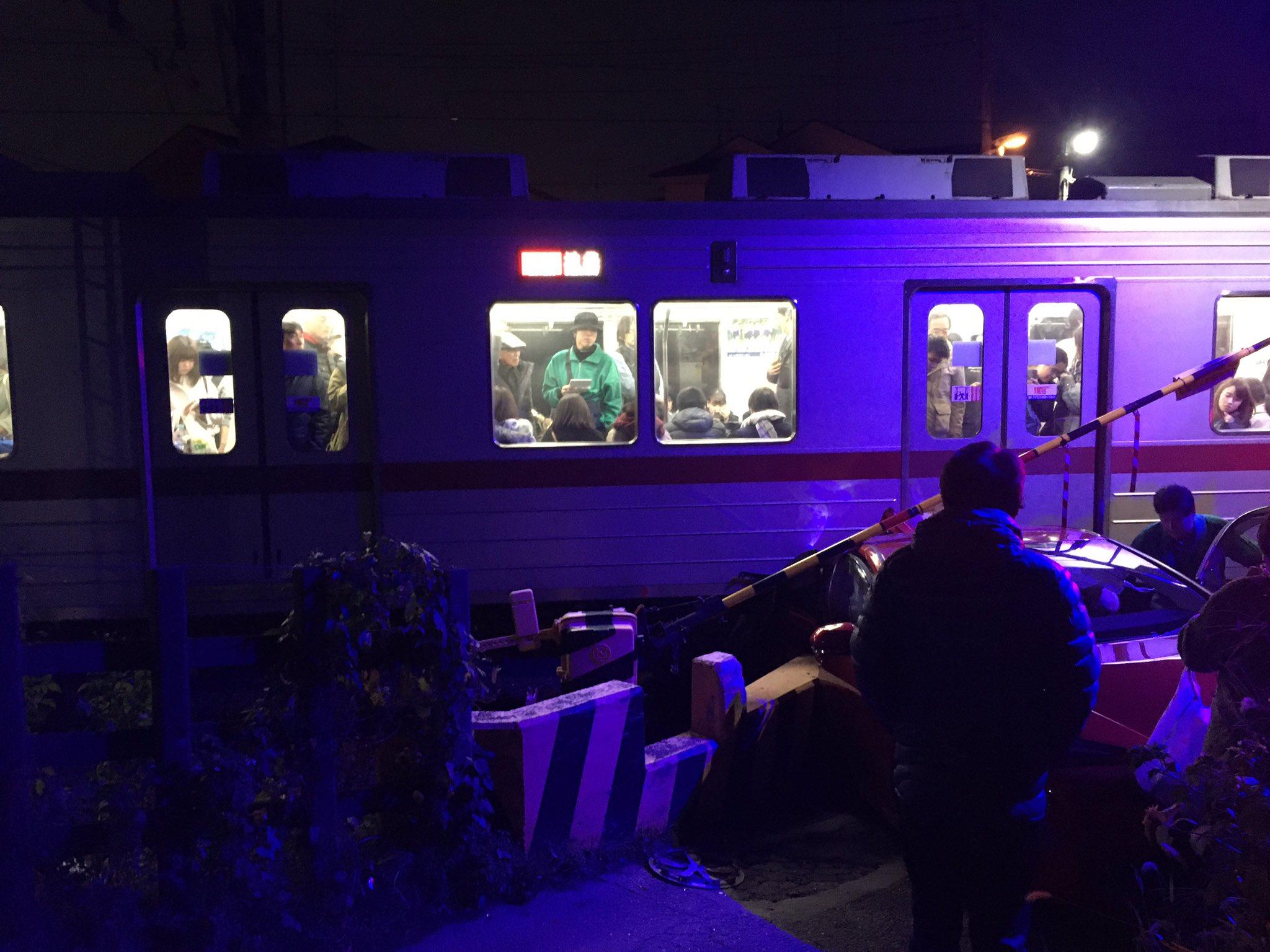 東武東上線のみずほ台駅付近の踏切事故現場の画像