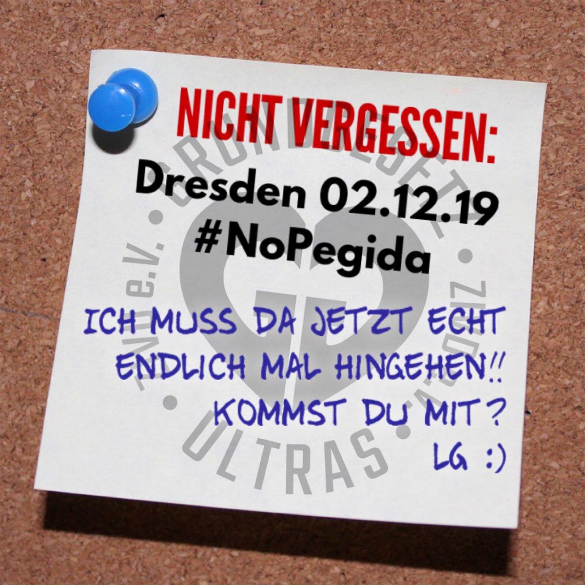 Save the date: 02.12.19  Dresden #Nopegida  #DresdenGehtUnsAlleAn #NaziNotstand #dd0212 #NopegidaDD #GGUltras  #HerzStattHetze #NazisRaus<br>http://pic.twitter.com/1ODqBoCiHF