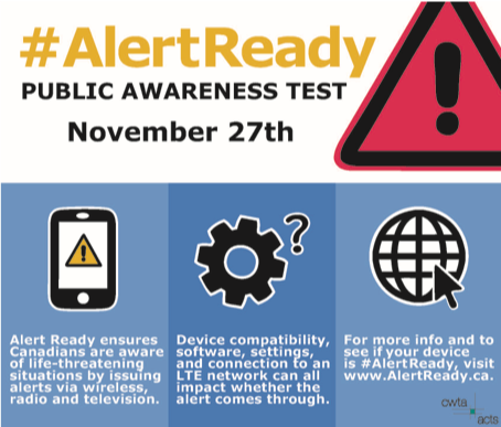 test Twitter Media - Are you #AlertReady? A test of the public alert system will occur today. Alert Ready delivers critical and potentially life-saving alerts to Canadians. Learn more at https://t.co/Dhj5aD3ObI   #CdnWireless https://t.co/dhVvOg3F7Z