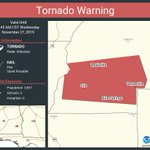 Image for the Tweet beginning: Tornado Warning continues for Clio