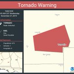 Image for the Tweet beginning: Tornado Warning continues for Texasville