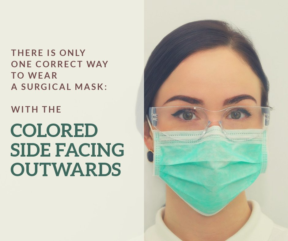 surgical face mask colored