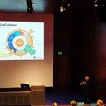 Image for the Tweet beginning: Päivi Laaksonen's keynote presentation about