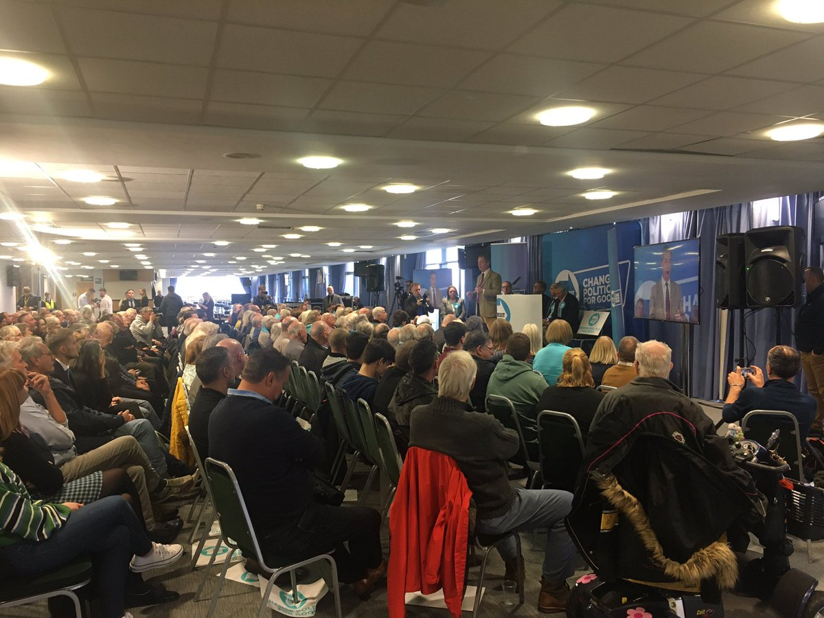 """""""A very, very extreme cult has taken over Labour"""" says @Nigel_Farage speaking to audience in Doncaster adding that many people in Yorkshire think @jeremycorbyn is an """"IRA sympathiser"""" - strong attack on Labour leader as he fights for votes in Lab heartland #GeneralElection2019"""