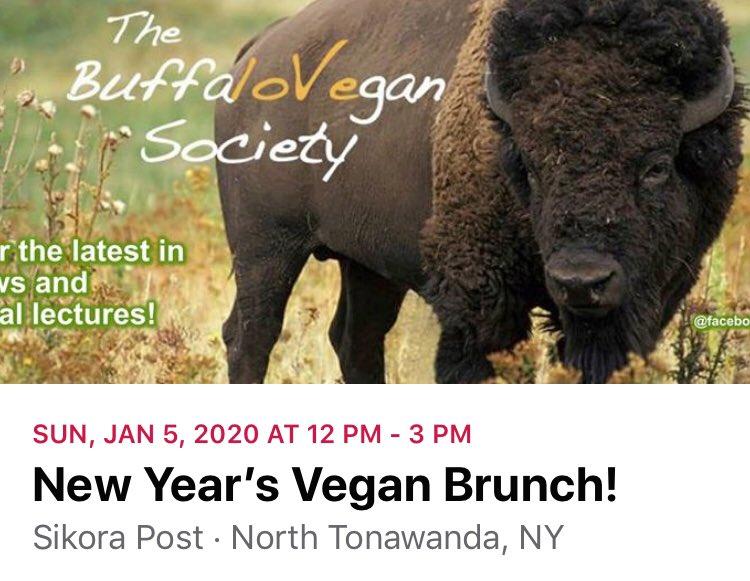 Please join the Buffalo Vegan Society for their Annual New Years Vegan Brunch!  All proceeds benefit Asha's Farm Sanctuary. #ashasanctuary #vegan #brunch #veganbrunch #friendsnotfood #bekindtoeverykind #buffalo #ny #buffaloveg #buffaloveg #buffalovegetarian #buffalove #nyveganpic.twitter.com/uNAkjXS73O
