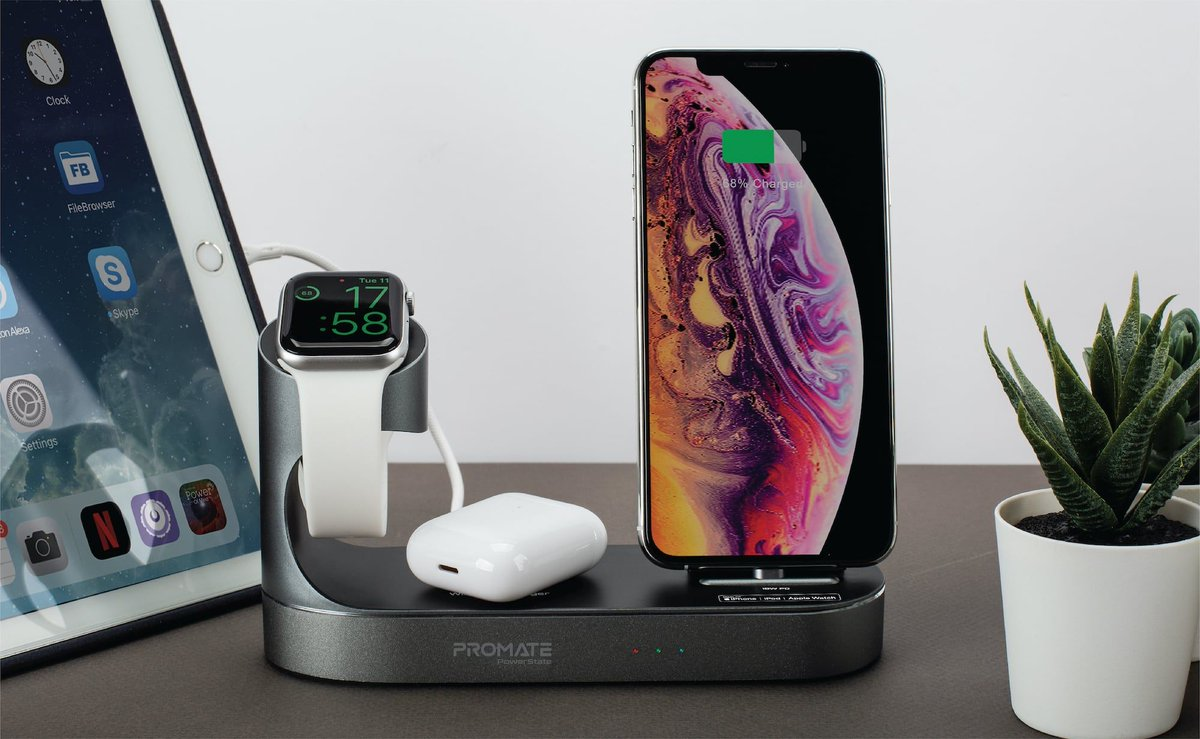 Get $50 off (code: PowerState50) - @Promate PowerState All-in-One Dock https://t.co/pwuI0HtT6F This #wirelesscharging dock is essentially an ecosystem that displays your Apple devices as they charge. #BlackFridayWeek https://t.co/Ojq17gtF73