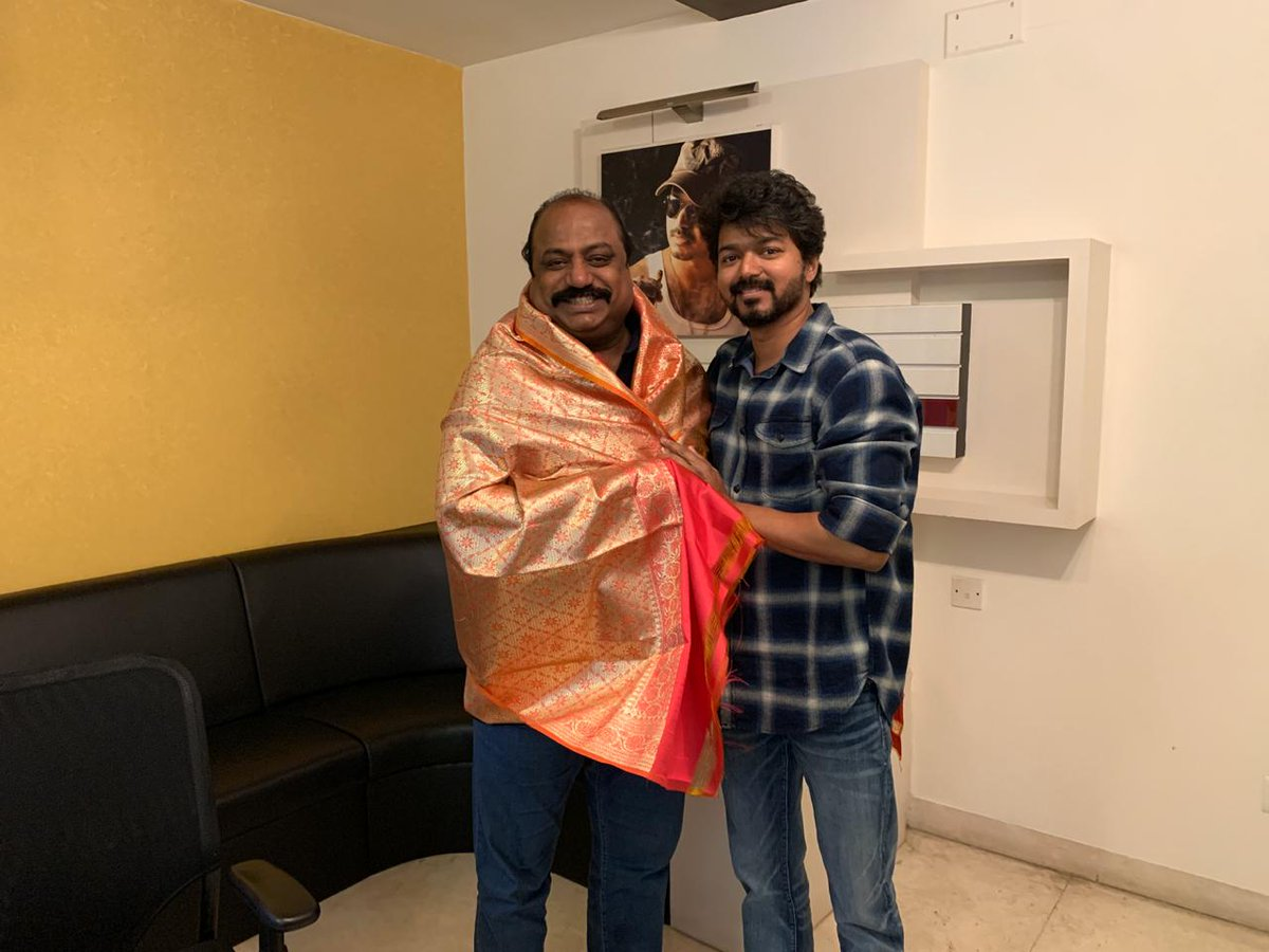 "MASTER on Twitter: ""#Thalapathy #Vijay with #Thalapathy64 Producer ..."