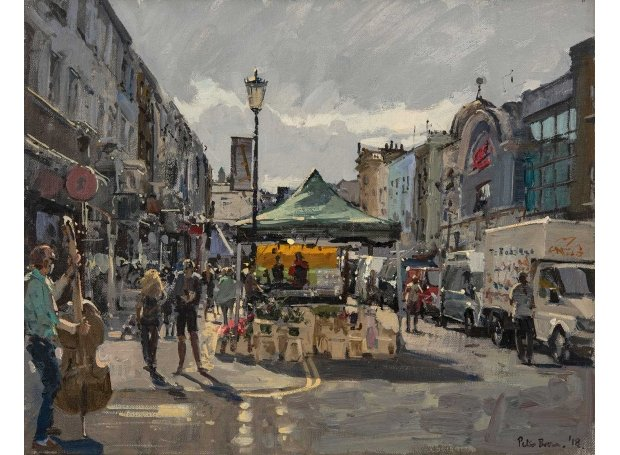 /'Portobello Road/' Oil Painting London