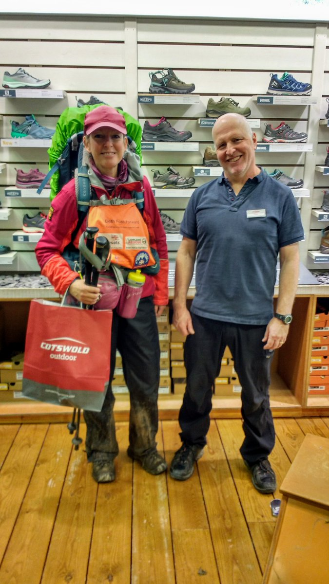 Thanks to South Cerney @CotswoldOutdoor for doing me another great deal on a pair of incredible @KEEN Targhee shoes. As I'm self-funding this #fundraising trip any help I receive is much appreciated 🙂 #charitywalk #lowlandrescue #mountainrescue #rnli