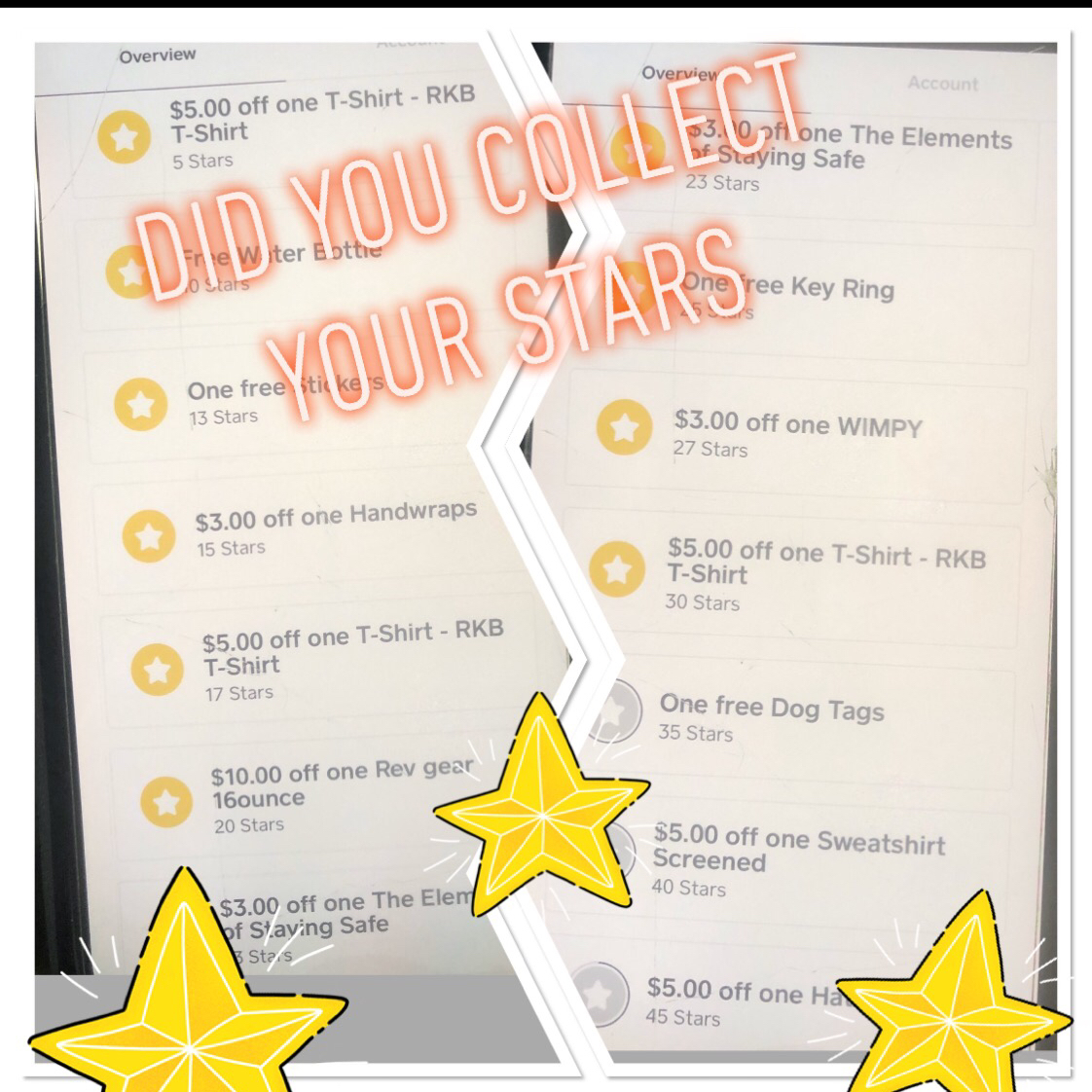 Rondeau's Kickboxing Rewards? Did you collect and claim your stars? Remember every purchase you make you earn a star!  Redeem for ProShop Merchandise! #rondeauskickboxing #rondeaus #rewards #revgear #christinarondeau