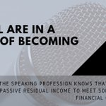 Image for the Tweet beginning: Anyone in the speaking profession
