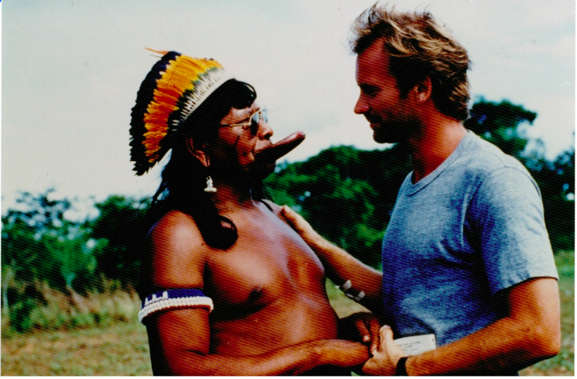 Big birthday for the Rainforest Foundation family today, as we celebrate the 30th anniversary of our sister organization, @RainforestNORW! Congratulations!  This photo of @OfficialSting and #ChiefRaoni of the #Kayapó was taken around the time around we were born. :-)