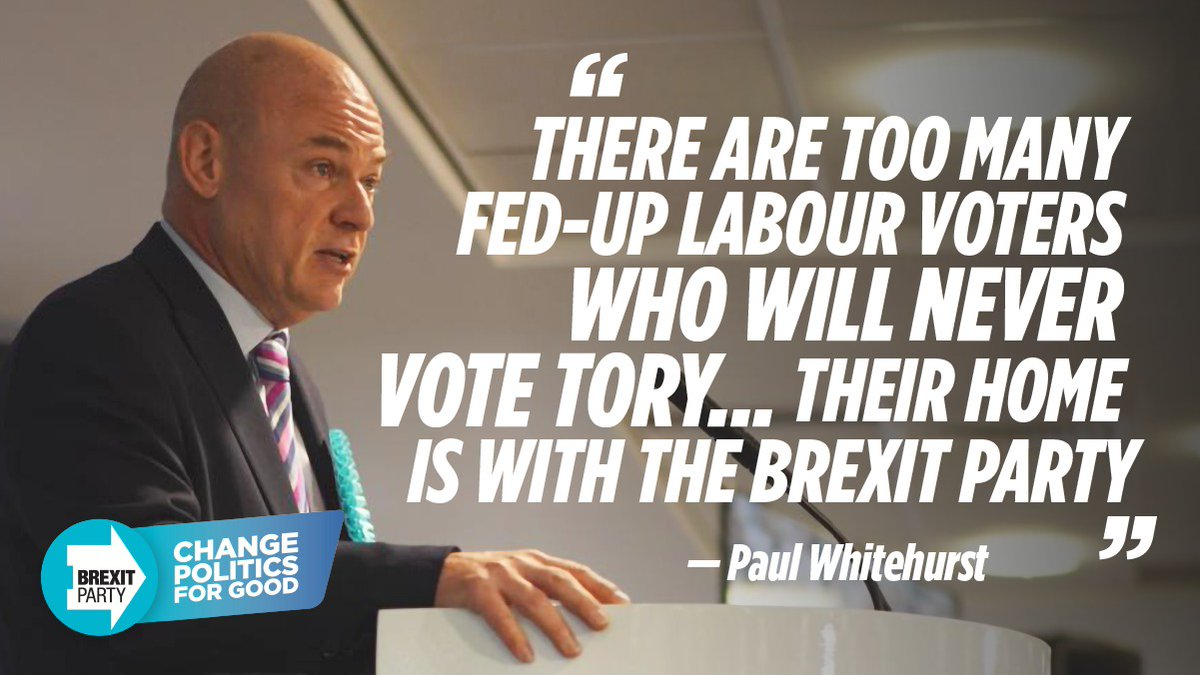 Dont split the vote. Vote for The Brexit Party and lets Change Politics For Good.