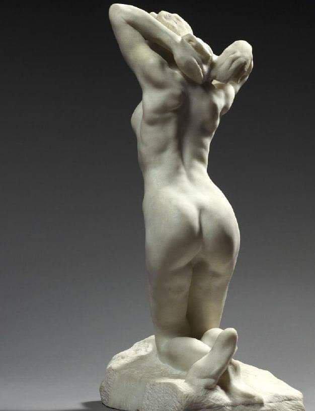 Metal Woman Nude Sculpture Diva