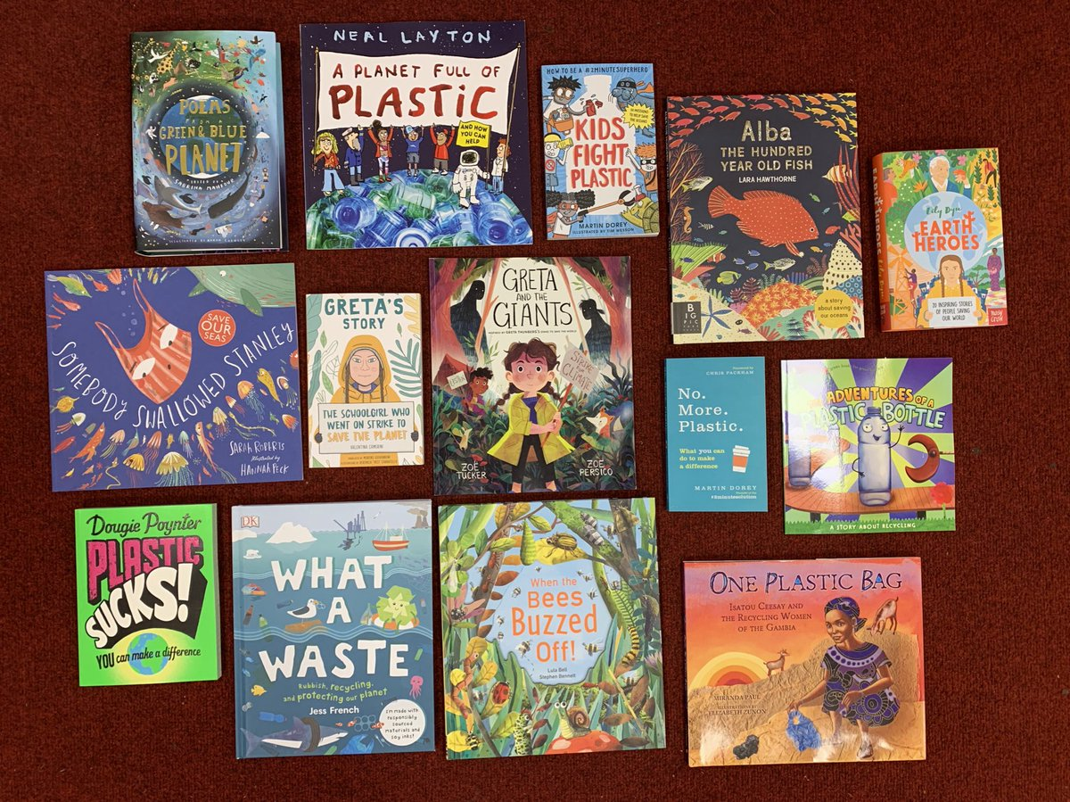 An exciting start to our brand new Eco Library collection @cccpschool @EcoSchools @FEEInt @KeepBritainTidy