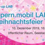 Image for the Tweet beginning: Die aspern.mobil LAB Weihnachtsfeier steht