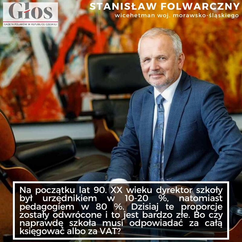 Mijają właśnie trzy lata od kiedy Stanisław Folwarczny przeniósł się z ratusza w Czeskim Cieszynie do gmachu Urzędu Wojewódzkiego w Ostrawie.   Przeczytajcie wywiad na #gloslive!   #ostrawa #zaolzie #wywiad