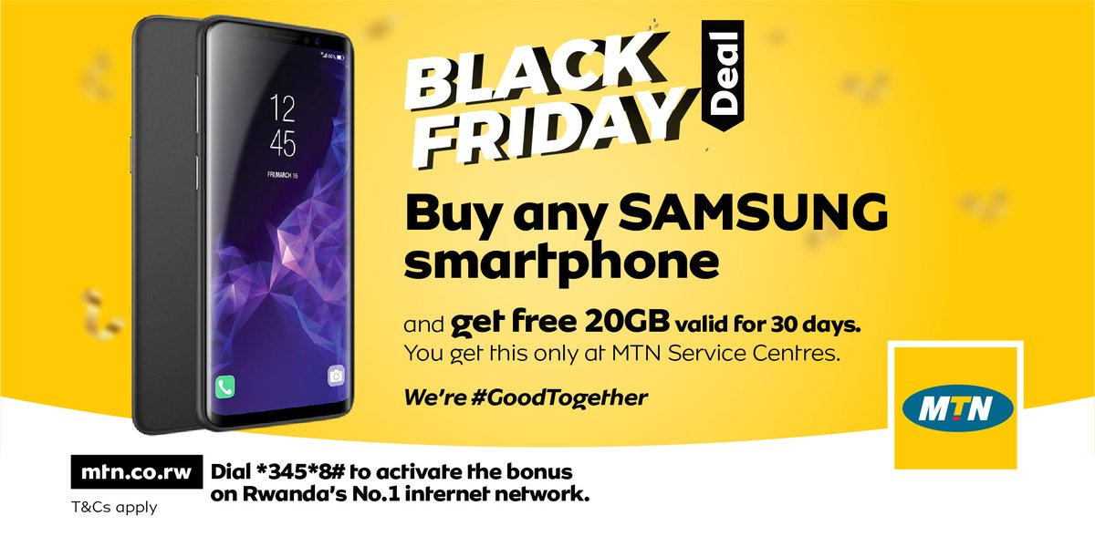 Mtn Rwanda On Twitter The Countdown Is On Two Days To The D Day Don T Miss Out On The Biggest Deals On Phones And More Blackfriday We Re Goodtogether Brighterlives Https T Co Ztyjd89e6s